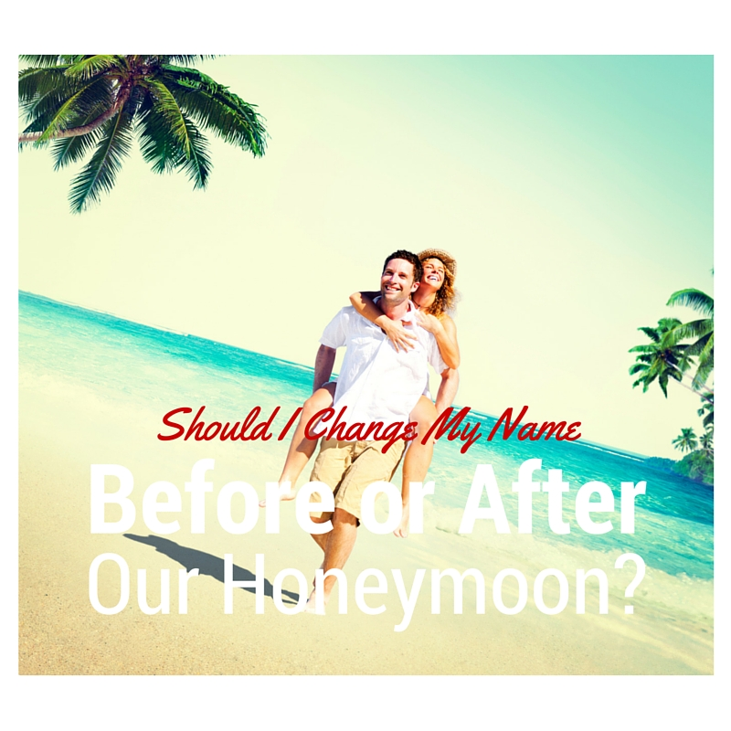 Honeymoon Name Change