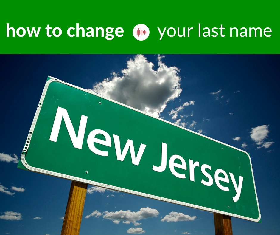 How to change your last name in NJ